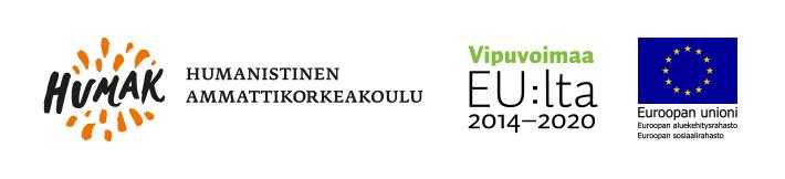 Hankkeen rahoittajien logot: Humak sekä Vipuvoimaa EU:lta ja ESR.